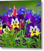 Floral Salad Metal Print