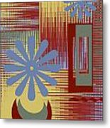 Floral Still Life In Red Metal Print