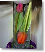 Floral Table Piece Metal Print