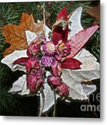 Floral Tree Ornament Metal Print