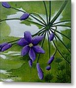 Floral Triptych 3. Metal Print