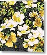 Floral Yellow Metal Print