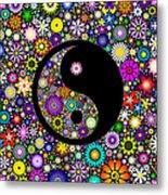 Floral Yin Yang Metal Print