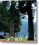 Floral's At The Lake  Metal Print