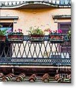 Florence Balcony Metal Print