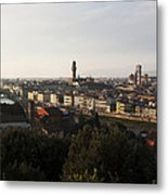 Florence Form The Piazza Michalengelo Metal Print