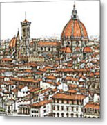 Florence In Colour Metal Print