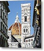 Florence Italy Santa Maria Fiori Duomo Metal Print