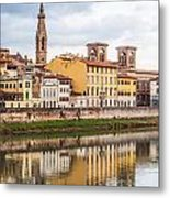 Florence Reflection Metal Print by Luis Alvarenga