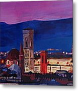 Florence Skyline Italy With Santa Maria Del Fiore Metal Print