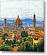 Florence Watercolor Metal Print