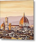Florences Cathedral And Skyline At Metal Print