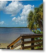Florida Beach Sky Line. Metal Print