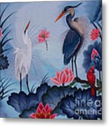 Florida Beauty Hand Embroidery Metal Print by To-Tam Gerwe