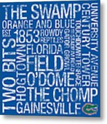 Florida College Colors Subway Art Metal Print by Replay Photos