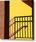 Shadowrails At Golden Hour Metal Print