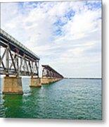 Florida Overseas Railway Bridge Near Bahia Honda State Park Metal Print