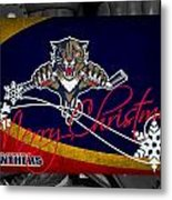 Florida Panthers Christmas Metal Print