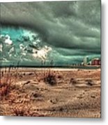 Florida Point Begining Of The Storm Metal Print