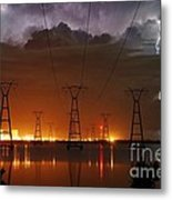 Florida Power And Lightning Metal Print by Lynda Dawson-Youngclaus