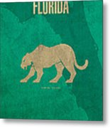 Florida State Facts Minimalist Movie Poster Art  Metal Print