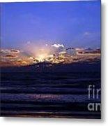 Florida Sunset Beyond The Ocean  II Metal Print