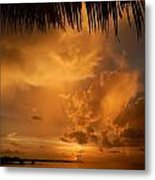 Florida Sunshower Sunset Metal Print