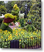 Flower And Garden Signage Walt Disney World Metal Print