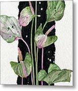 Flower Anthurium 02 Elena Yakubovich Metal Print by Elena Yakubovich
