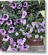 Flower Barrel Metal Print