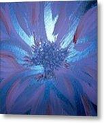 Flower Blue Metal Print