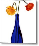 Flower Blues Metal Print