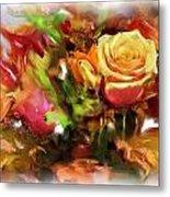 Flower Bouquet Greetings Metal Print
