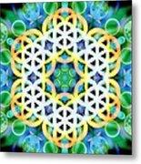 Flower Bubbles Metal Print