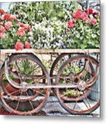 Flower Cart Metal Print