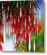 Flower Chandelier Metal Print