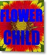 Flower Child Phone Case Work Metal Print