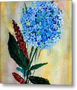 Flower Decor Metal Print