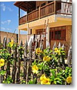 Flower Fence For A Beach Loft In Jeri Metal Print