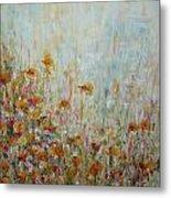 Flower Field Metal Print