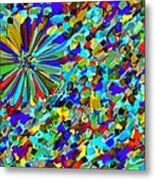 Flower Fight Abstract Metal Print