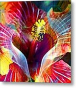 Flower Fire Power Metal Print