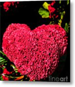 Flower For The Heart Metal Print