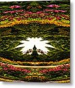 Flower Garden Polar View Metal Print
