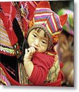 Flower Hmong Baby 01 Metal Print
