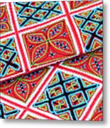 Flower Hmong Embroidery 02 Metal Print