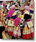 Flower Hmong Girl 01 Metal Print