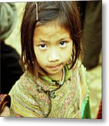 Flower Hmong Girl 02 Metal Print