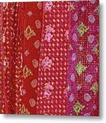 Flower Hmong Velvet Metal Print