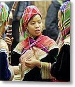 Flower Hmong Women Metal Print by Rick Piper Photography